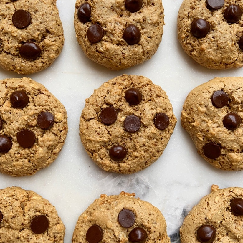 Tahini Chocolate Chip Cookies -