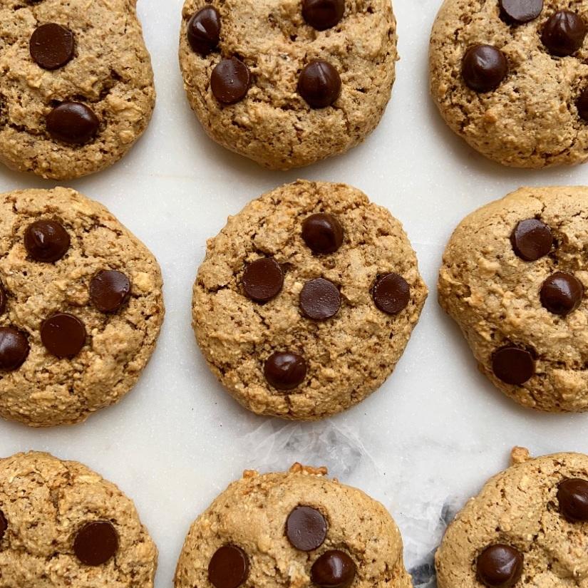 Tahini Chocolate Chip Cookies -