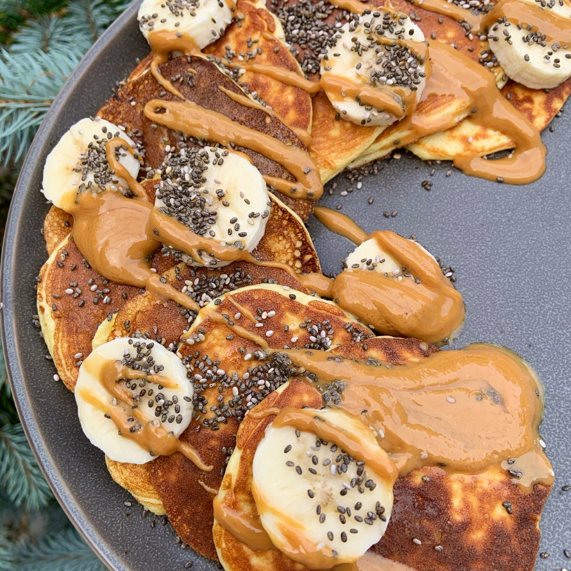 3 Ingredient Protein Pancakes -