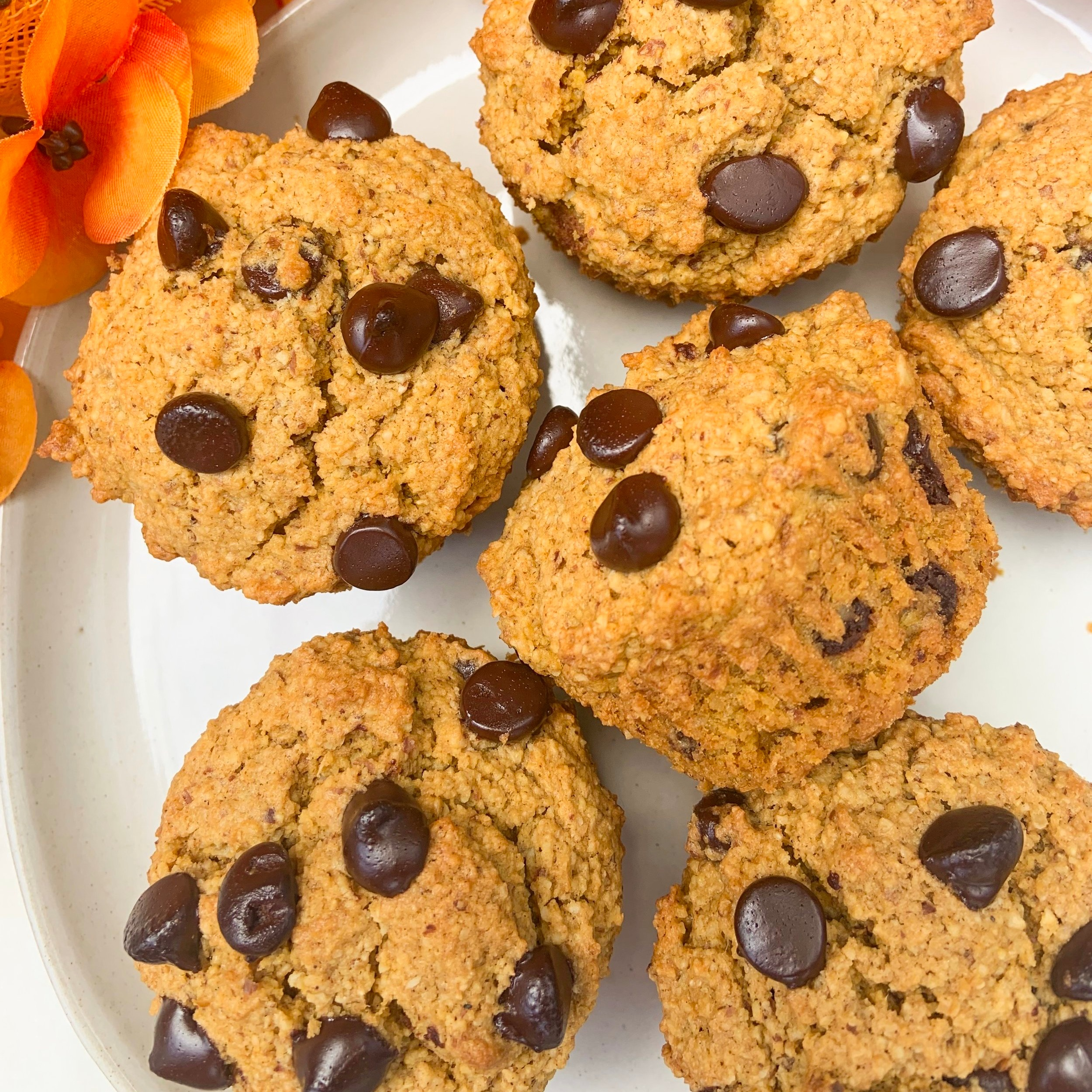 Pumpkin Chocolate Chip Muffins -
