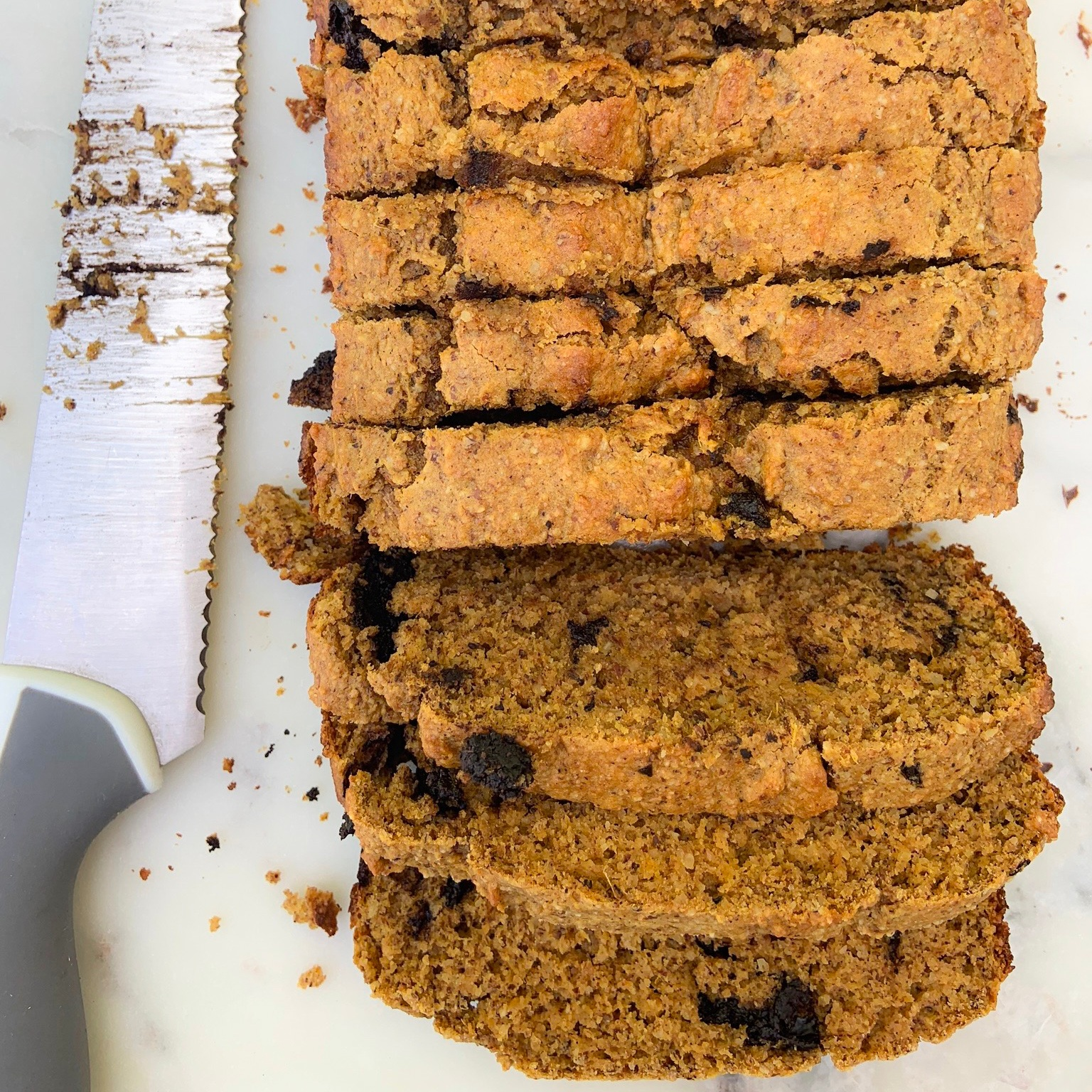 Dark Chocolate Sweet Potato Loaf -
