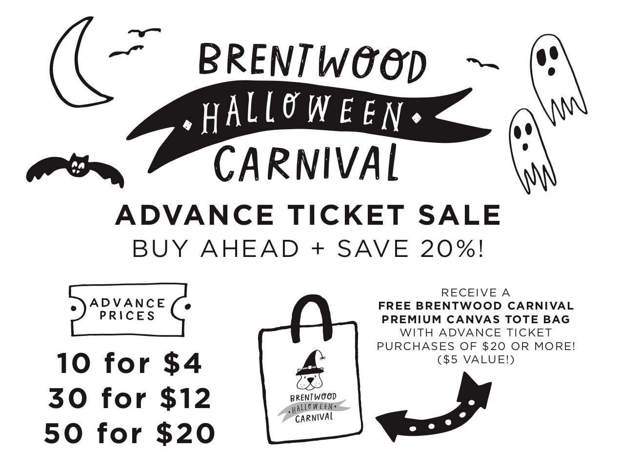 Save when you buy tickets in advance at the  Brentwood PTA store .