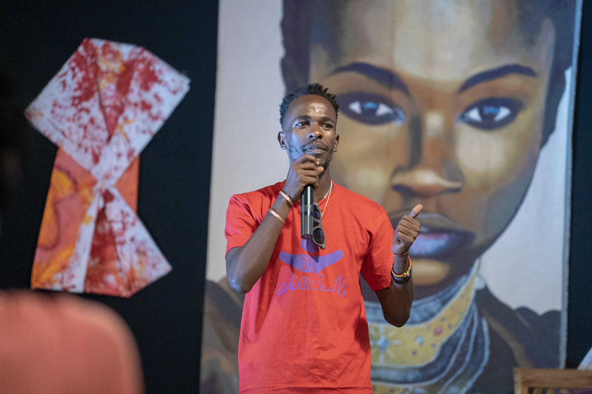Shyaka Lwanyaaga Farid at the launch of the My Period is Awesome partnership. Photo Ulf Lundquist
