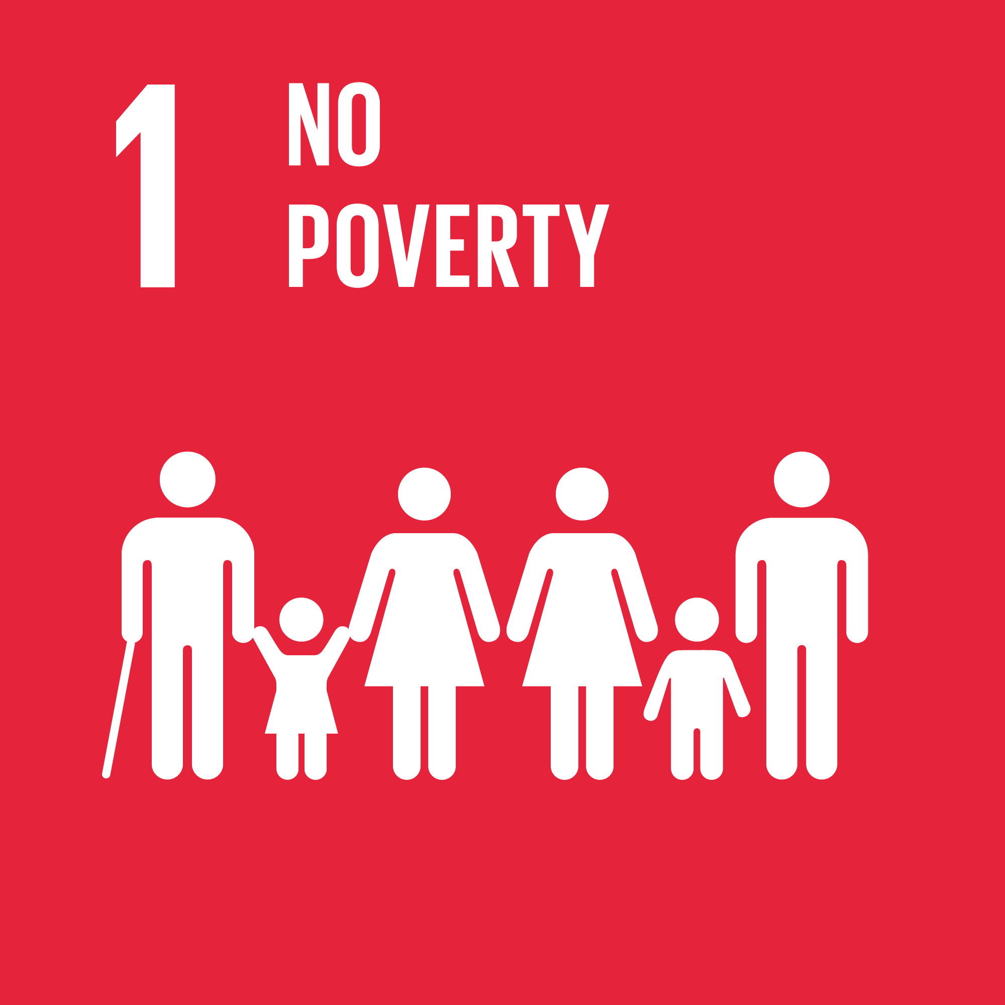 Sustainable Development Goal 1. Image: globalgoals.org