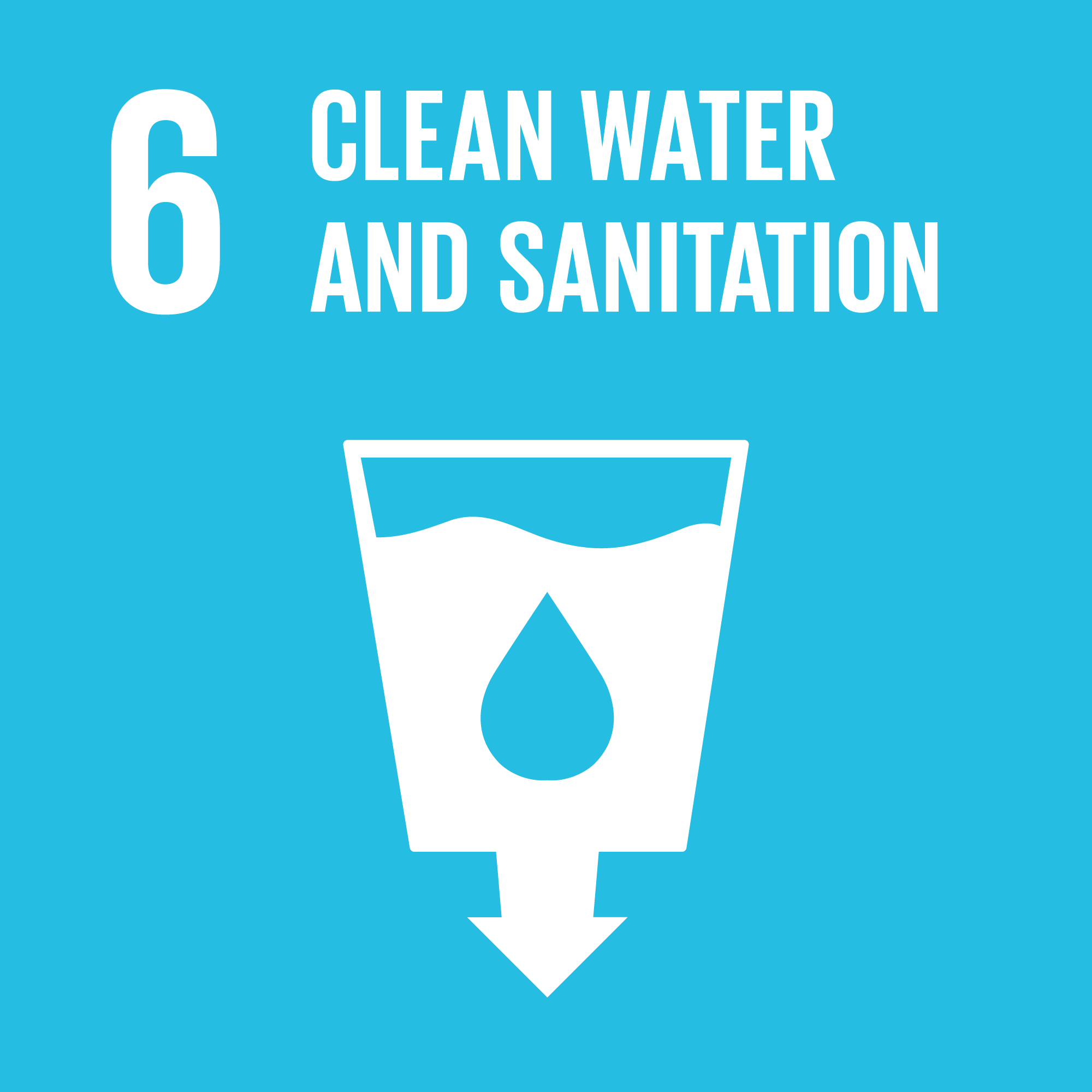 Sustainable Development Goal 6. Image: globalgoal.org