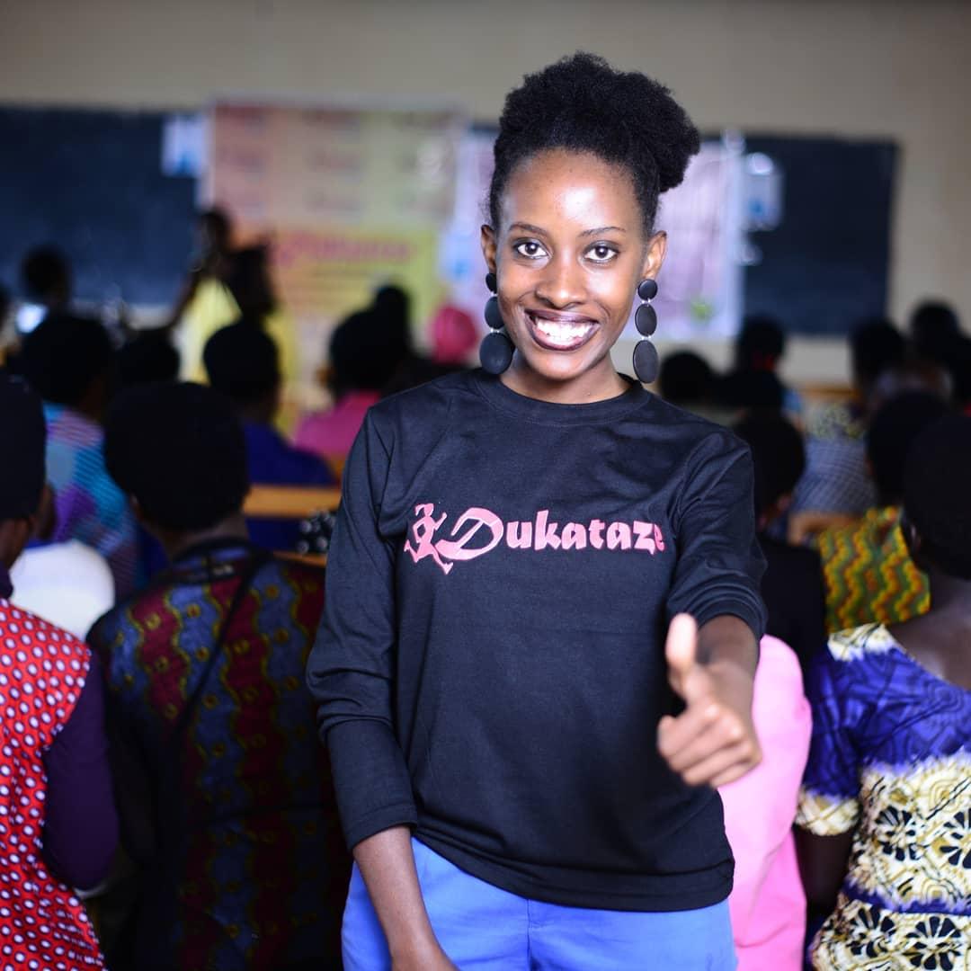 Social entrepreneur Amina Umuhoza Poetess is the founder of Dukataze.