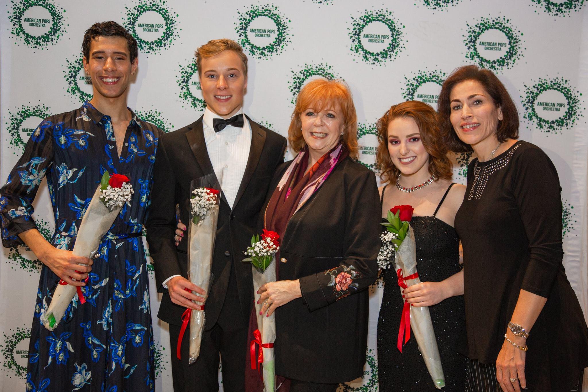 with winners & classmates José Raúl Mangual and Kodiak Thompson, Karma Camp, and Rachelle Fleming