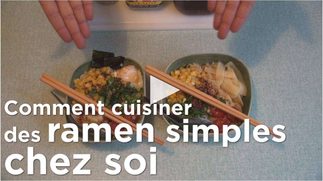 24heures | Gastronomie - Yan Luong, de La cantine vous livre sa recette express pour de délicieux ramen…