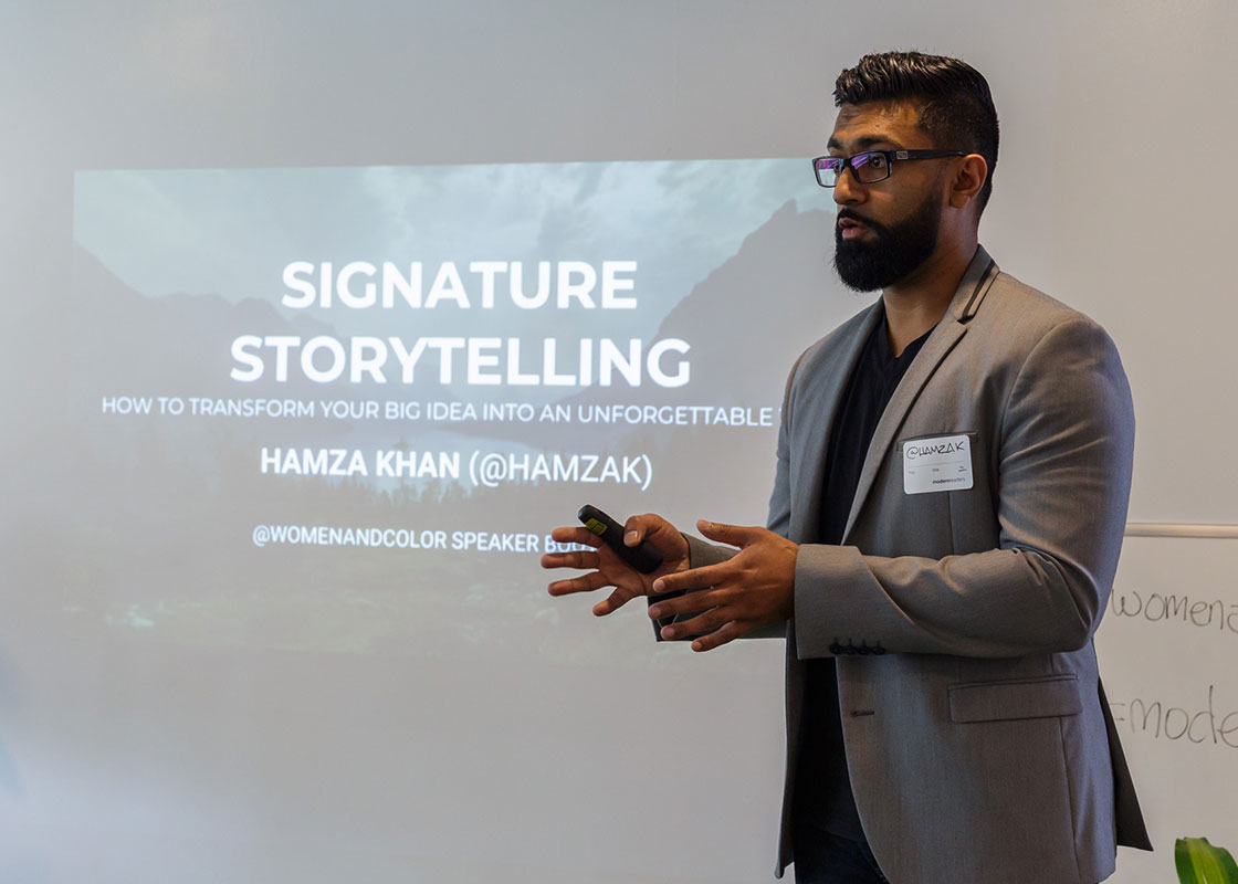 """I'm a big fan of the work that Mohammed and Chanèle are doing. It's truly important work that needs to be supported."" - Hamza Khan, Speaker Bootcamp Teacher"