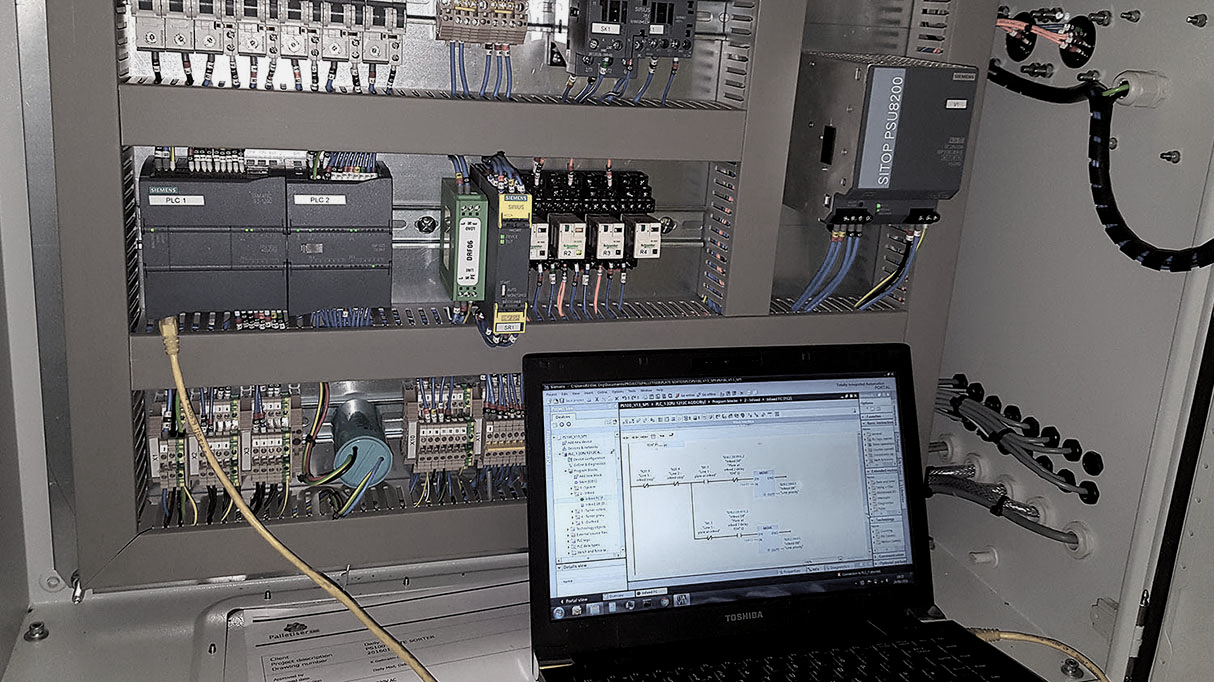 Interfacing with a PLC need not involve directly connecting a laptop!