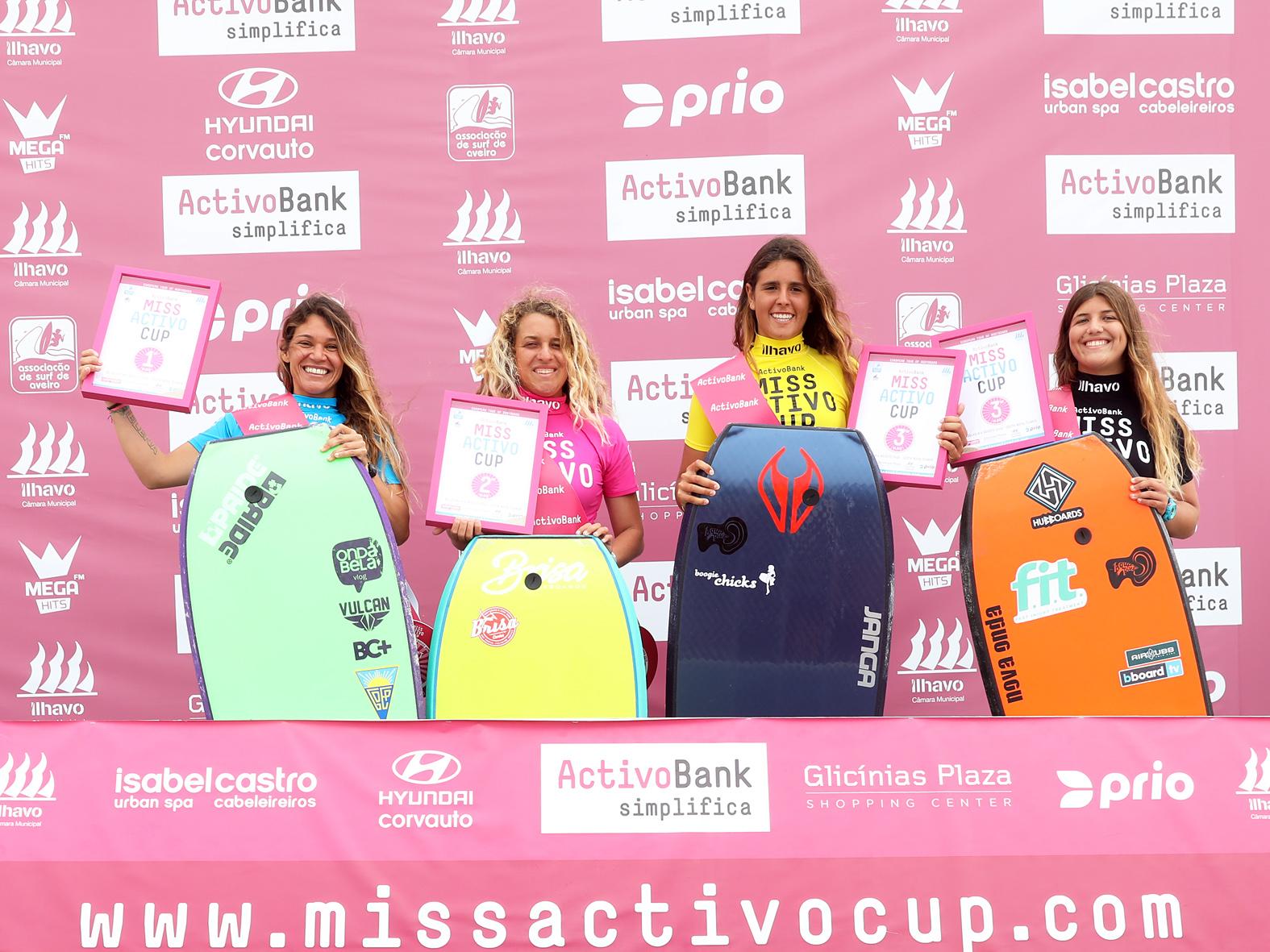 As quatro finalistas na ordem: eu, Teresa Padilla, Teresa Padrela e Mariana Rosa. Foto: André Neto