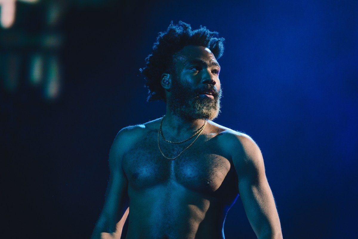 Childish Gambino on stage for his set at Coachella  Picture via Greg Noire