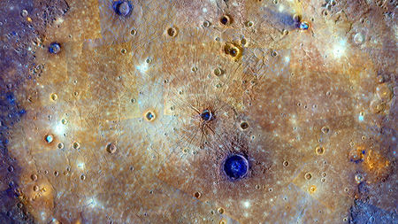 NASA image of the surface of Mercury