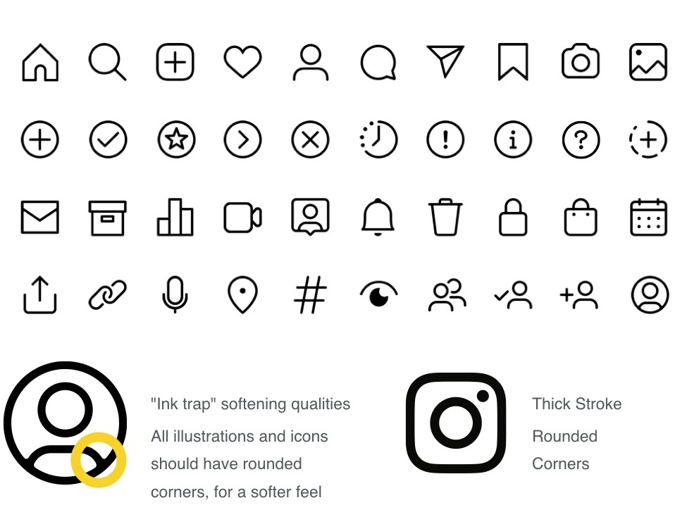 Initial Considerations - Existing icons and glyphs set
