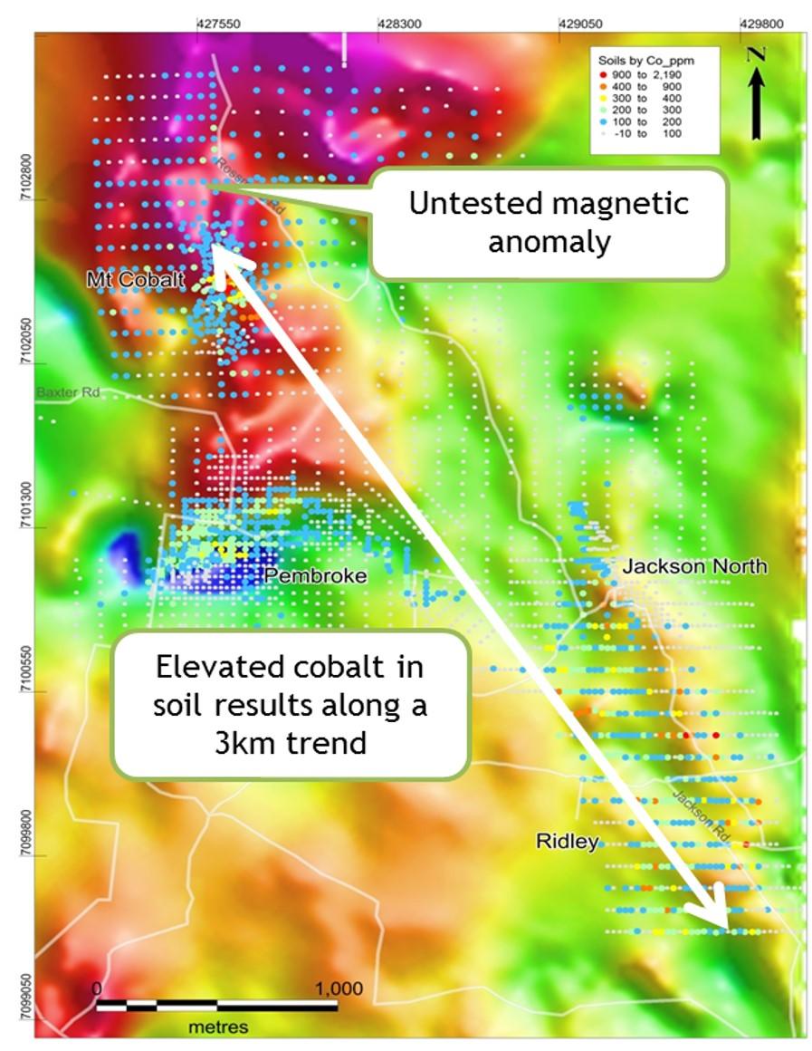 Kilkivan soil geochemistry and magnetic survey (TMI) data