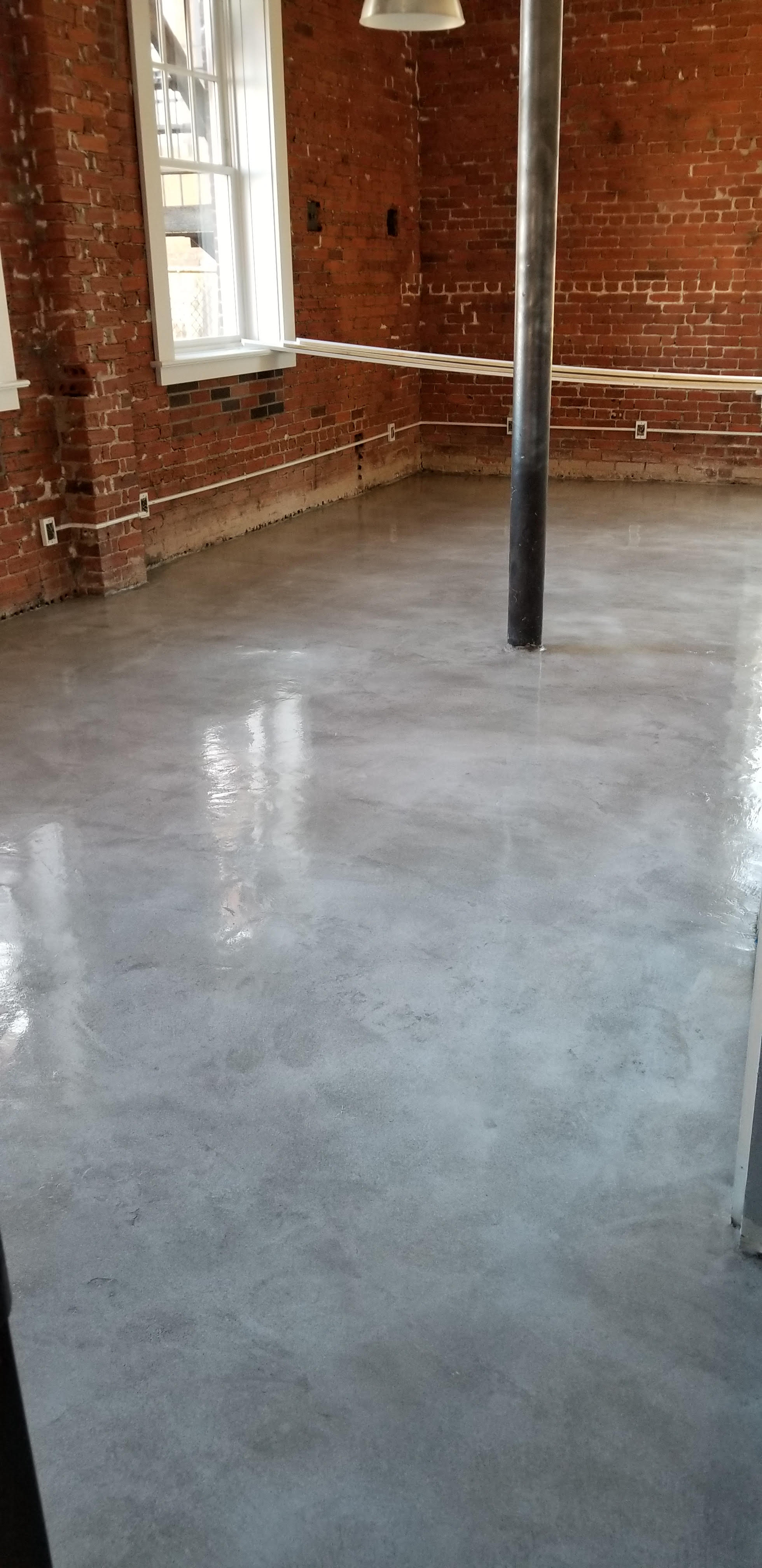 Concrete Overlay in Pewter