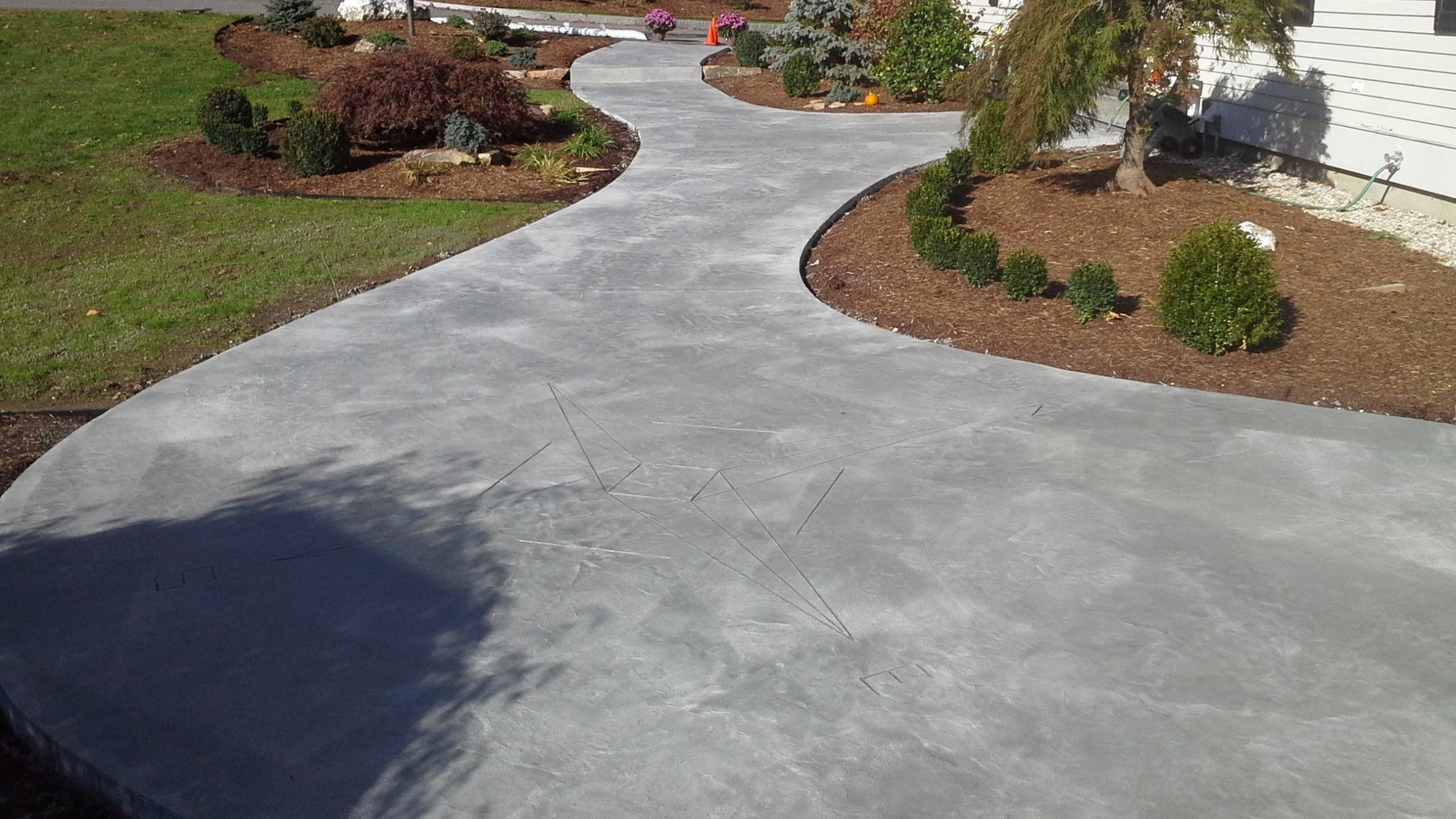 Concrete Stamped Overlay -