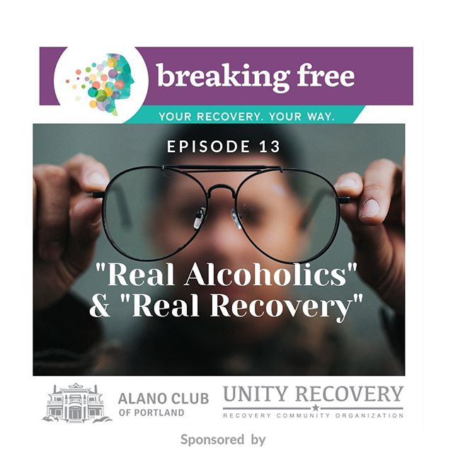 """New episode now available: """"Real Alcoholics"""" & """"Real Recovery."""" Link in bio👆👆 Show notes: In this episode, Liv and Tiffany explore the terms """"real alcoholic"""" and """"real recovery."""" For example, people in the rooms often say """"you might be sober, but you're not in real recovery."""" The overall issue of using terms like these is the implication that you have to get to a certain state (being a """"real alcoholic"""", or hitting """"rock bottom,"""" for AA to work. Anyone feeling that AA isn't the right fit for someone often hears that they can't really have a problem and they aren't desperate enough. This is not only harmful, it's untrue. AA is not the validator of anyone's problem: only the individual suffering can truly assess if they have a problem, and that might be a """"grey area"""" drinking problem or acute alcohol use disorder.  This thinking doesn't allow for other pathways of recovery, either. Just because AA isn't the right fit for someone, that doesn't mean that they haven't had enough pain. The fact that they have walked through the doors of AA is enough reason to extend the hand of recovery. But to imply that they don't have AUD because the program isn't the right fit is shaming. It pushes someone back to using because they think they haven't suffered enough. Second, it's also inappropriate for someone in AA to think they have the authority of a doctor, or of the person with AUD. """"Real recovery"""" is a term often bandied around by people in 12-step programs. For example, they sometimes say that you might be sober but you might not be in """"real recovery."""" We cannot stress enough that for someone who is seeking help with harmful drinking and using behaviors is recovery. Recovery is an individualized process that isn't beholden to a certain pathway or program. We have to stop speaking with such authority that we know of the only way to recover. Just because something works for us does not mean it will work for everyone else. There is always another way. And we shouldn't shame anyone"""