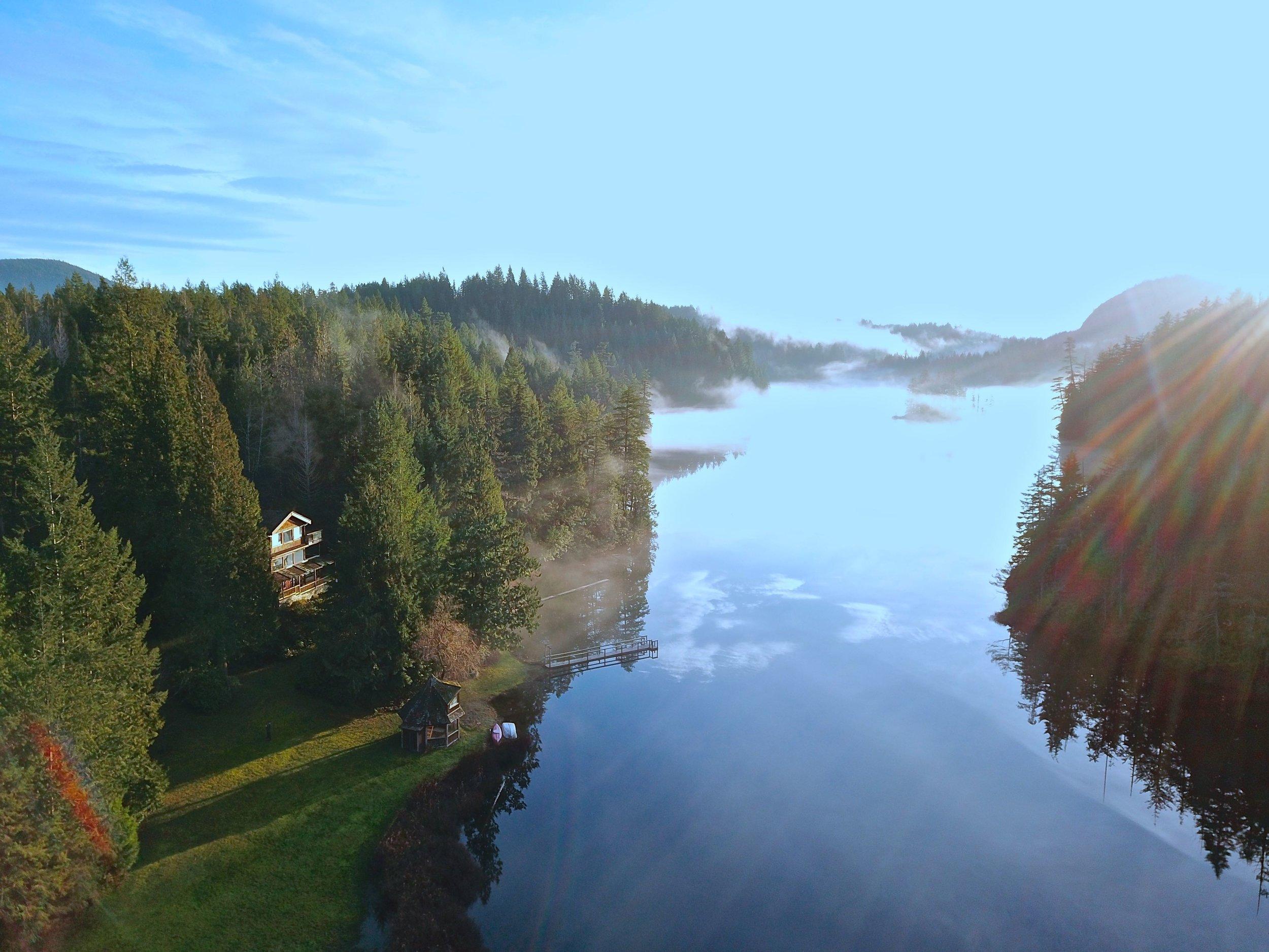 Aerial View Lake + Cabin.jpg