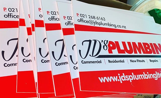 Our new site signs on the way out the door #signage #plumbing #building#auckland#housing