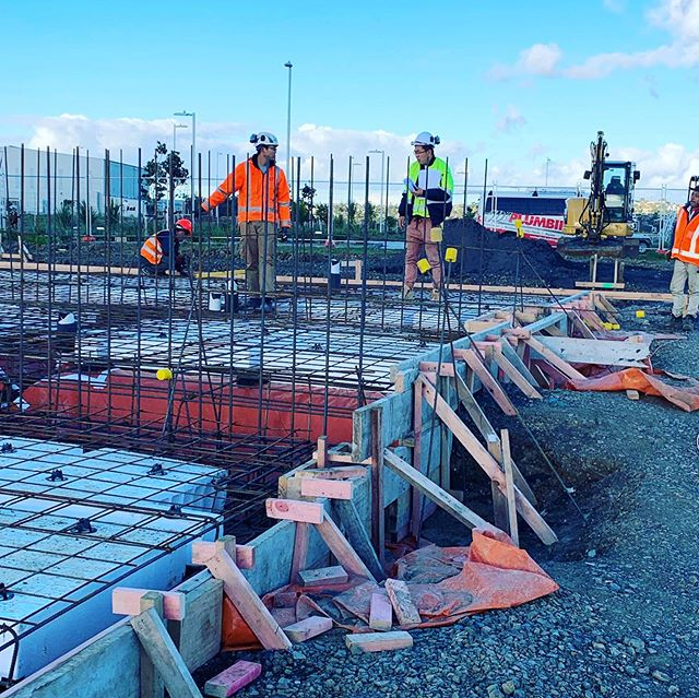 The start of our next project in line at AirFields Hobsonville point. #affordablehousing #plumbers #steel#pipe#aucklandarchitecture#auckland#builders#hobsonvillepoint