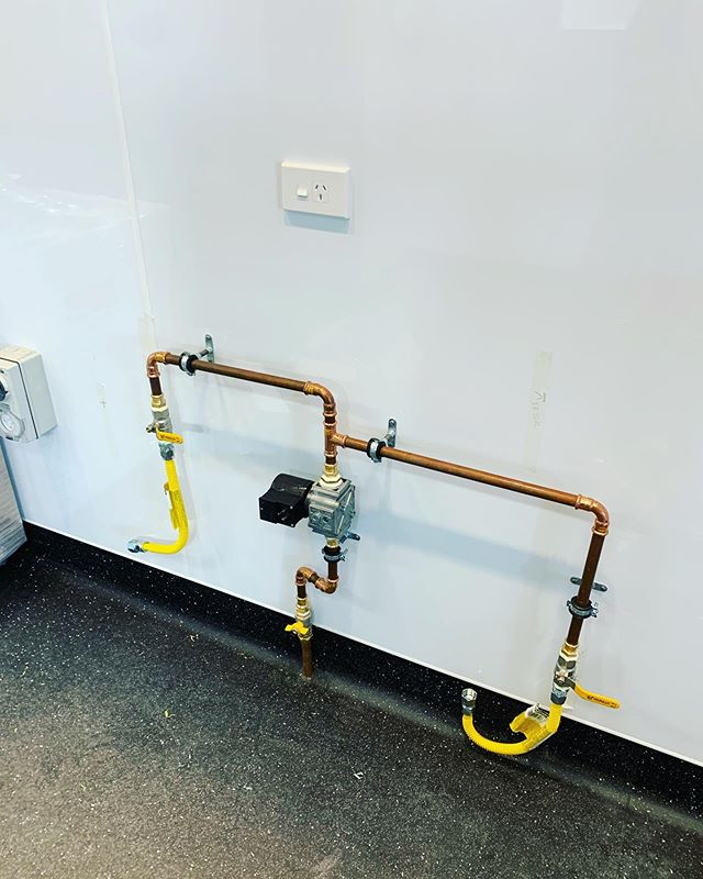Some gas fitting and first fix plumbing we have completed at the ground floor cafe. #plumbers #gasfitters #plumbing #comercialcookery#cafe #copper