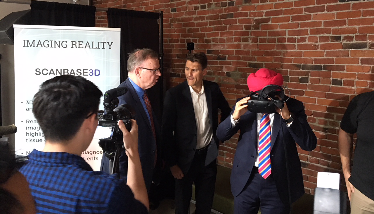 Featured at the Grand Oping of the BC Tech Cube incubation hub with Canada's Minister of Innovation, Science and Economic Development, Navdeep Bains, B.C. Minister of Jobs, Trade and Technology, Bruce Ralston, and Vancouver Mayor Gregor Robinson.