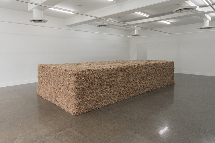 Thomas Rentmeister, Terra Mollis, 2019 Ecological mineral wool 120 x 540 x 253cm