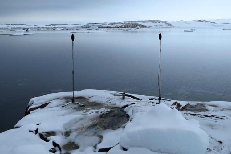 Associate Professor Philip Samartzis, Bailey Peninsula, Eastern Antarctica, 2016 Photograph Photo taken while Associate Professor Samartzis was undertaking fieldwork at Casey Station as the Australian Antarctic Division Arts Fellow.