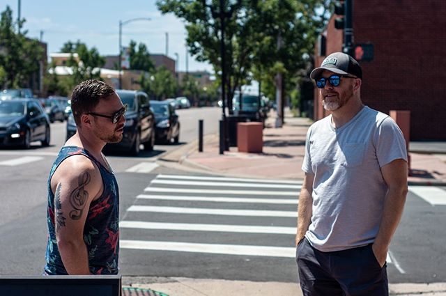 Josh and Matthew walking off pre-show breakfast last Saturday.  One week from today we'll be at @cervantesmasterpiece with @bensparacomusic and @diggband We hope to see you there!