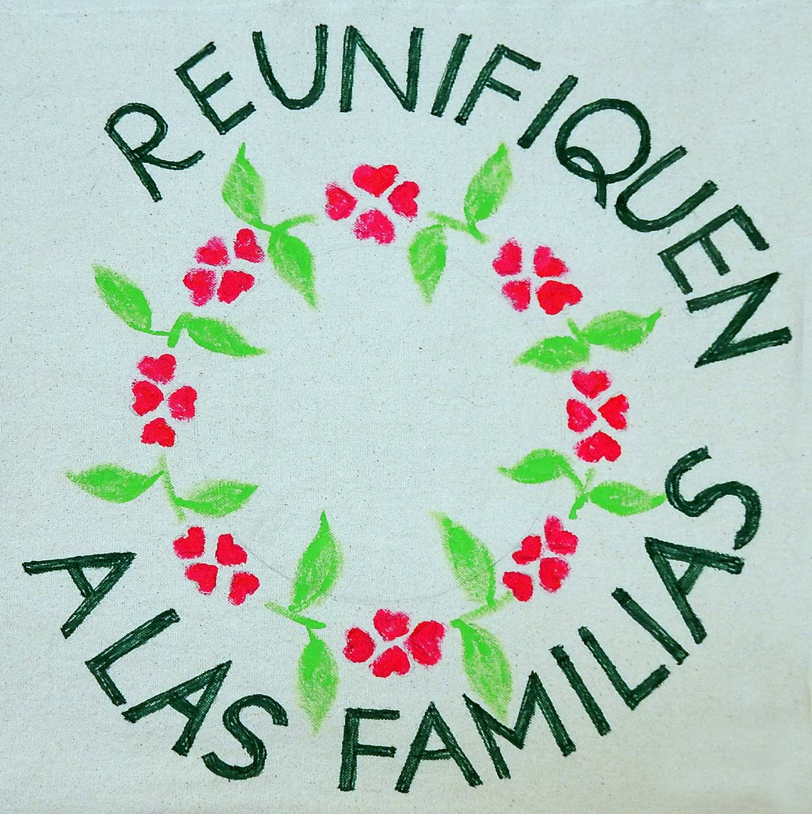 """A square from the """"Families Belong Together"""" Quilt"""