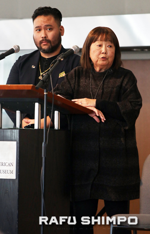 Hideki Fukusumi of Kizuna and Carrie Morita of Nikkei Progressives served as emcees.