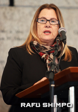 President and CEO Ann Burroughs spoke on behalf of JANM.