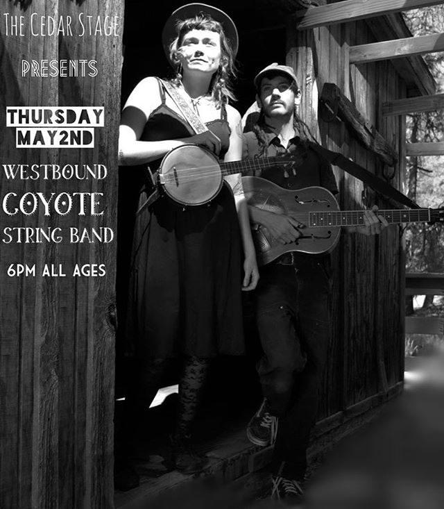 Tonight on the Cedar Stage, @westboundcoyotestringband  These folks are a real talent and super nice people! Don't miss Westbound Coyote Stringband! Starts at 6, Free, All Ages.