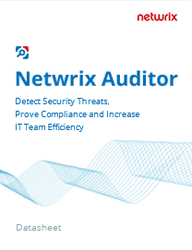 - Review the Netwrix Auditor datasheet to find out more about how it can help you solve your specific problemspdfdownload