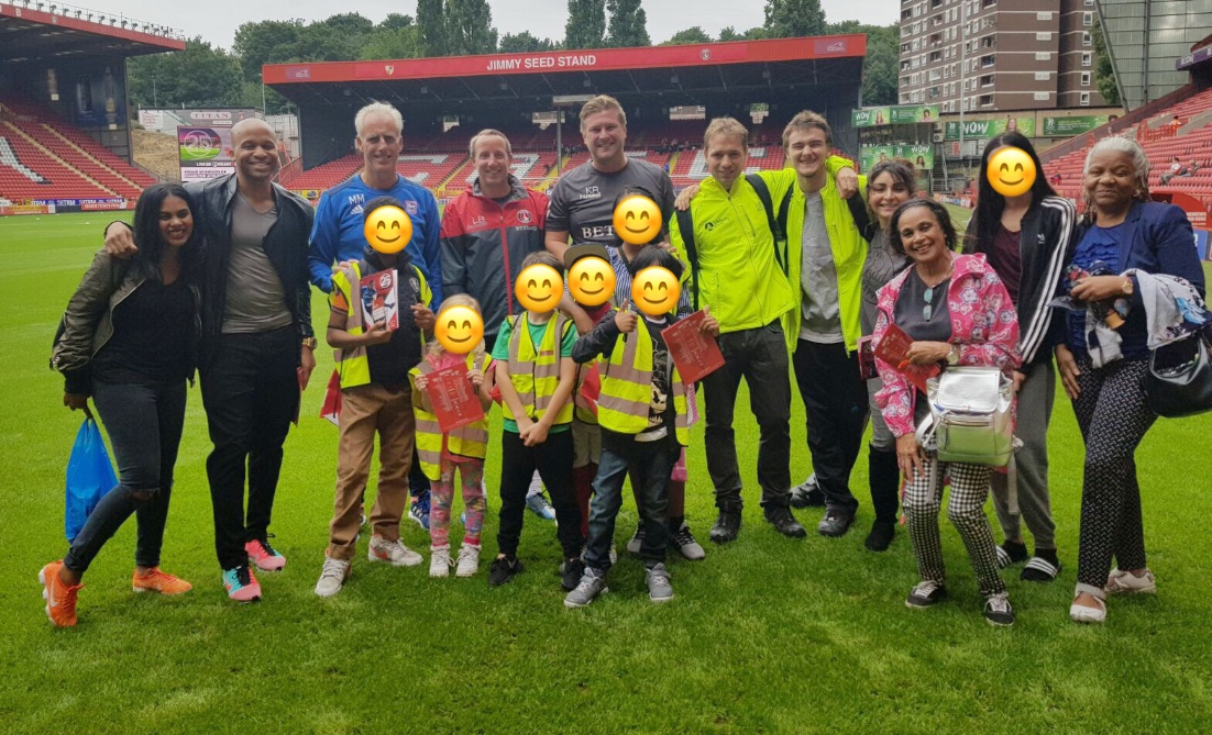 Soccology football tour at Charlton Athletic fc with the children from the grenfell tragedy