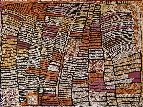Naatha - Untitled - AENUNNA11SY2009 -  Untitled Acrylic on linen, 122 x 152 cm Price : 148.000 $GD each (last artist auction 230K)