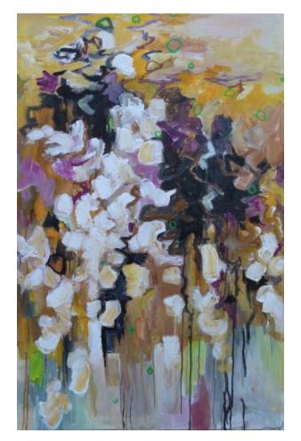 Magnolia 115 x 75 x 2 cm acrylics on canvas