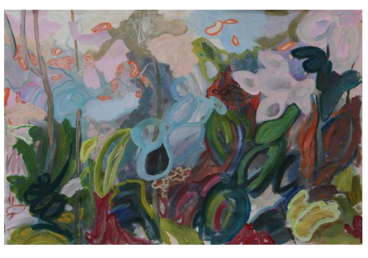 Garden 100 x 130 x 2 cm acrylics on canvas