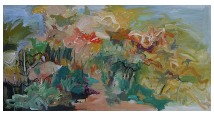 Touched by the sun 70 x 135 x 2 cm acrylics on canvas