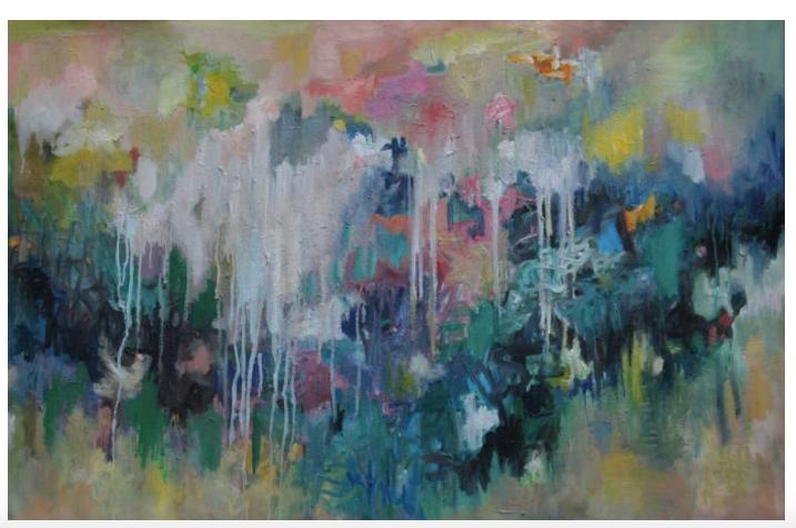 Dream on 75 x 120 x 2 cm acrylics and oil on canvas