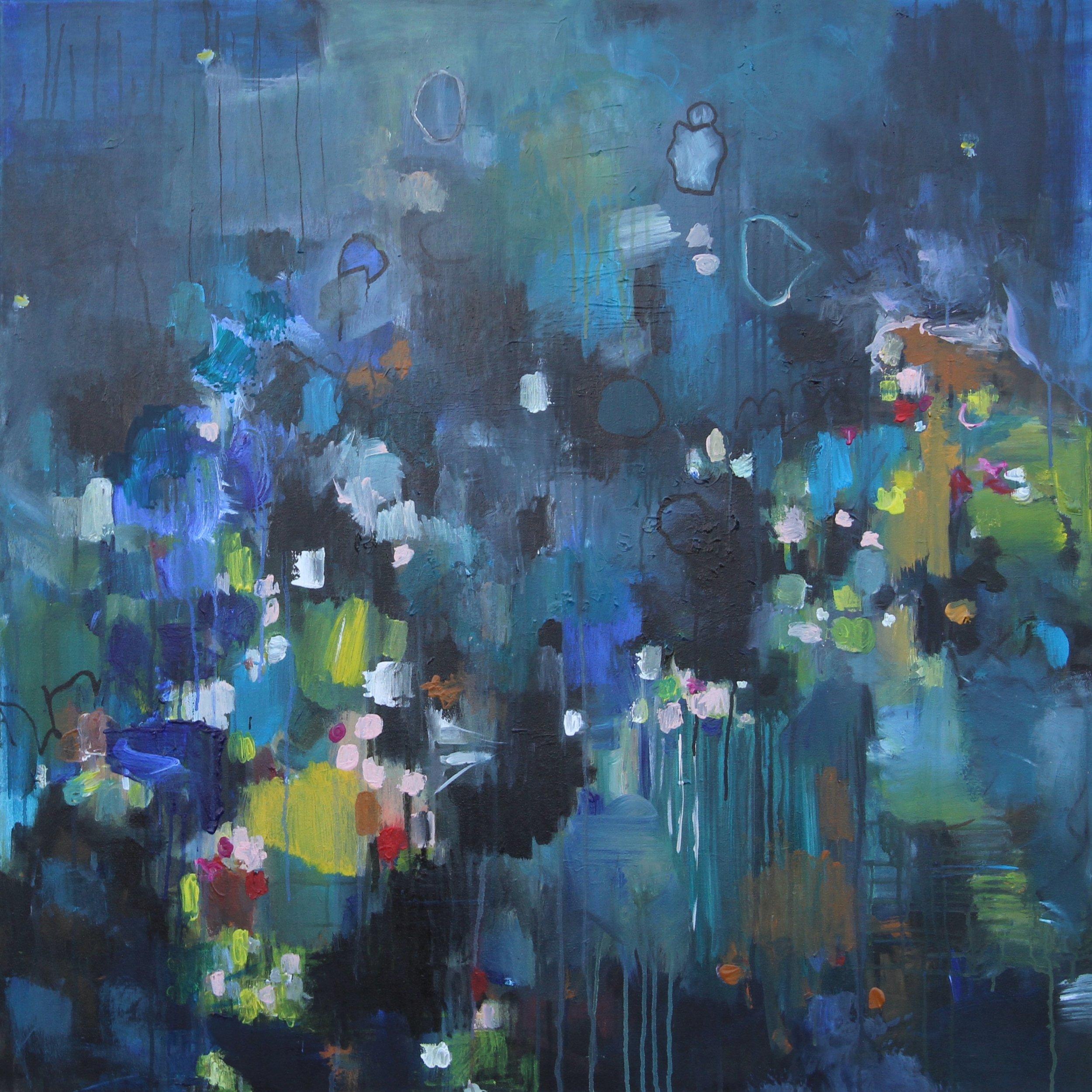 Mountain Sion 100 x 100 x 4 cm acrylics on canvas