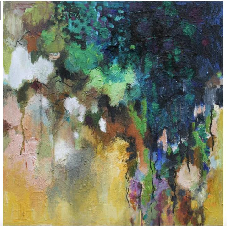 Shadow 50 x 50 x 3,7 cm acrylics on canvas