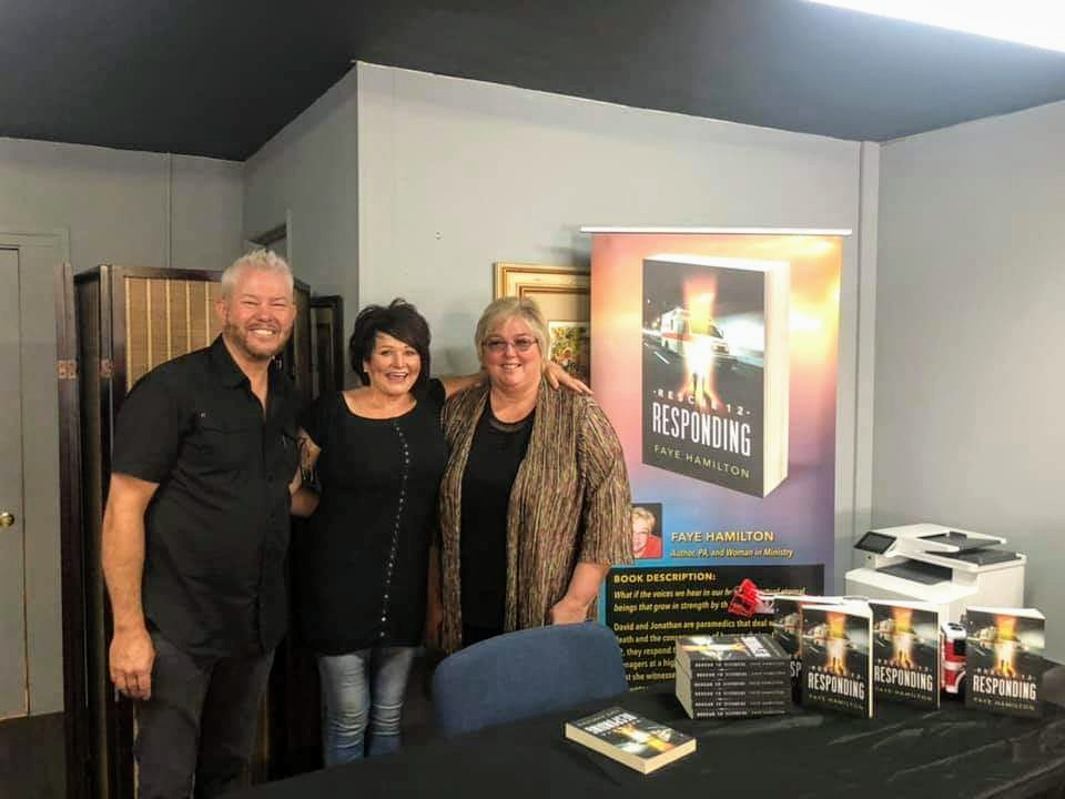 Tim and Stephanie McDonald at CFTN Payson . Thanks for the opportunity to share the Joy of this Novel with others!!!