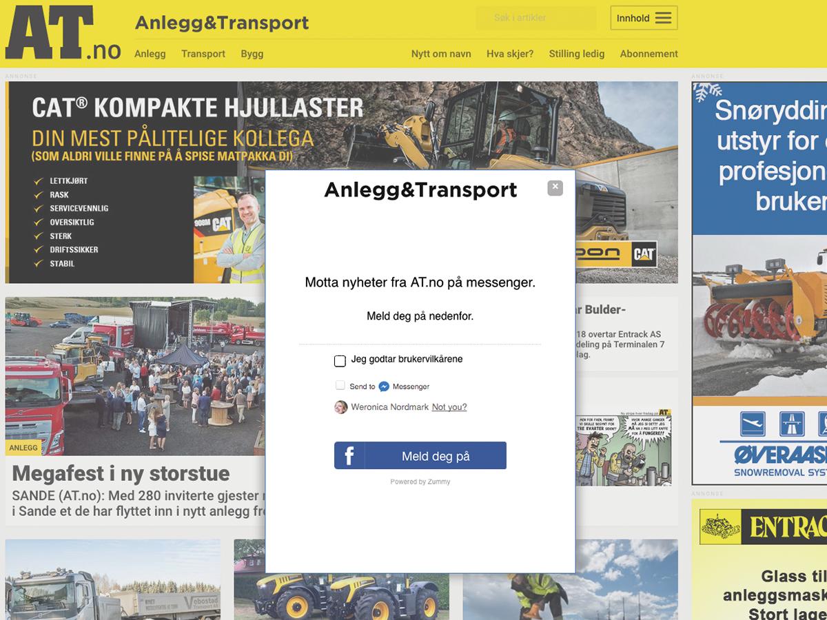 AT, Anlegg & Transport, publisher chatbot