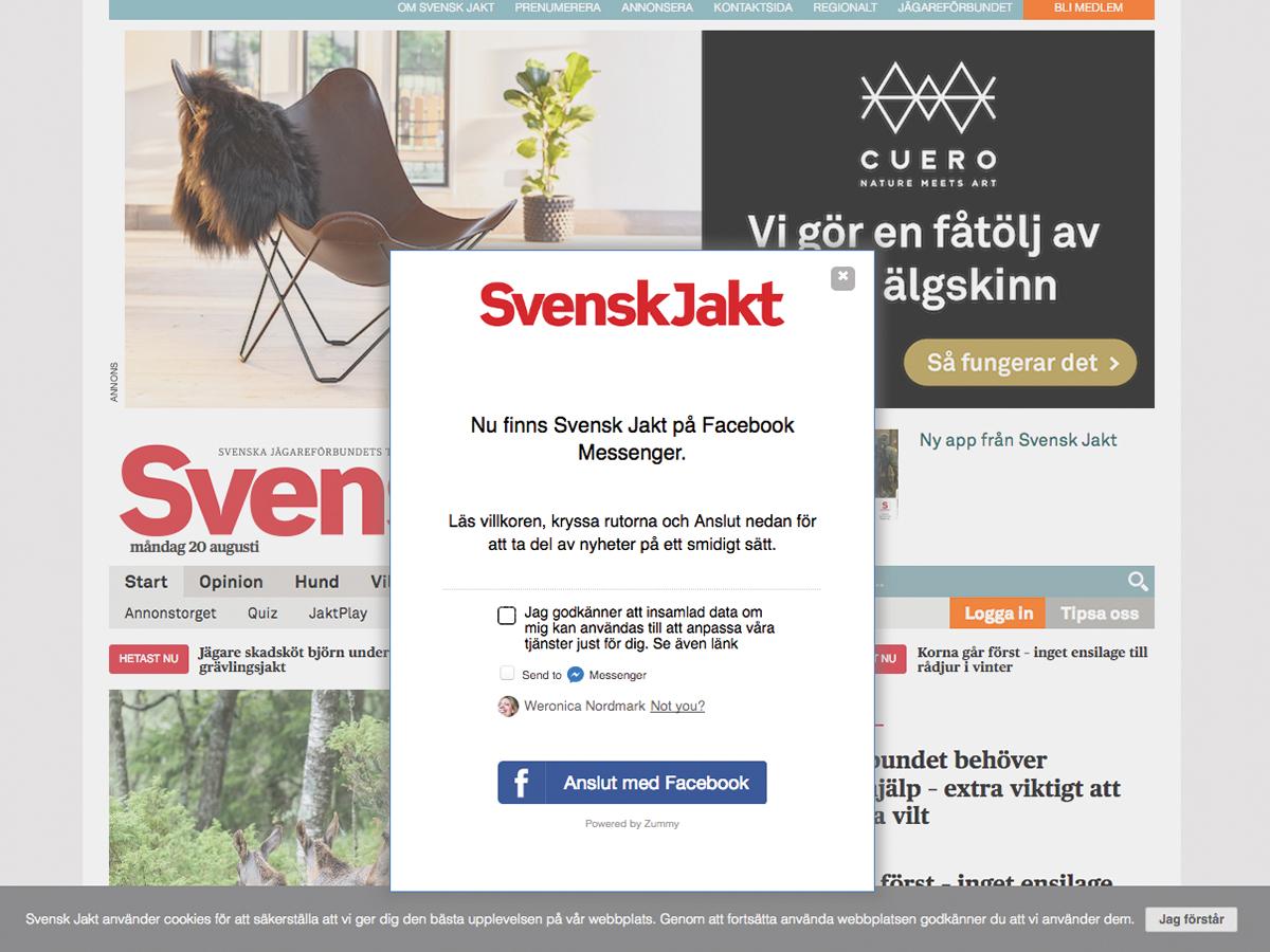 SvenskJakt publisher chatbot