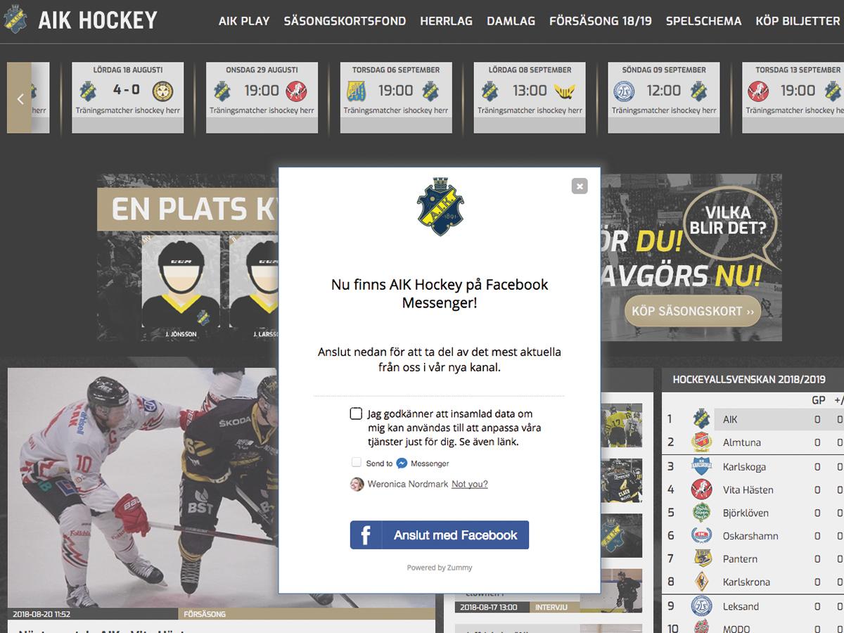 AIK Hockey sport chatbot