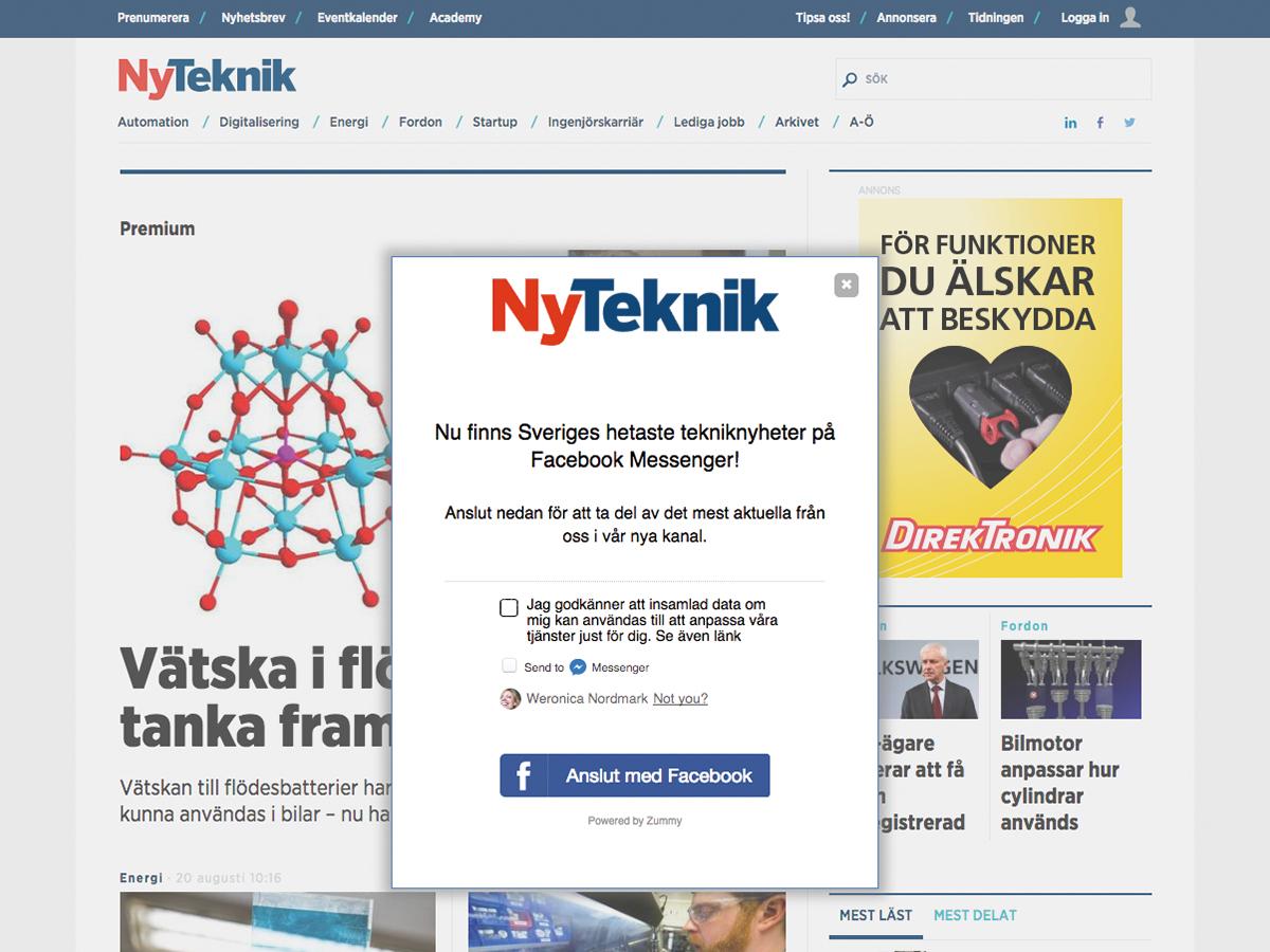 NyTeknik publisher chatbot