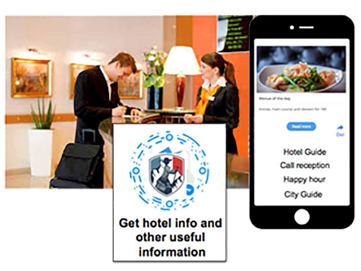 Chatbot within a hotel business