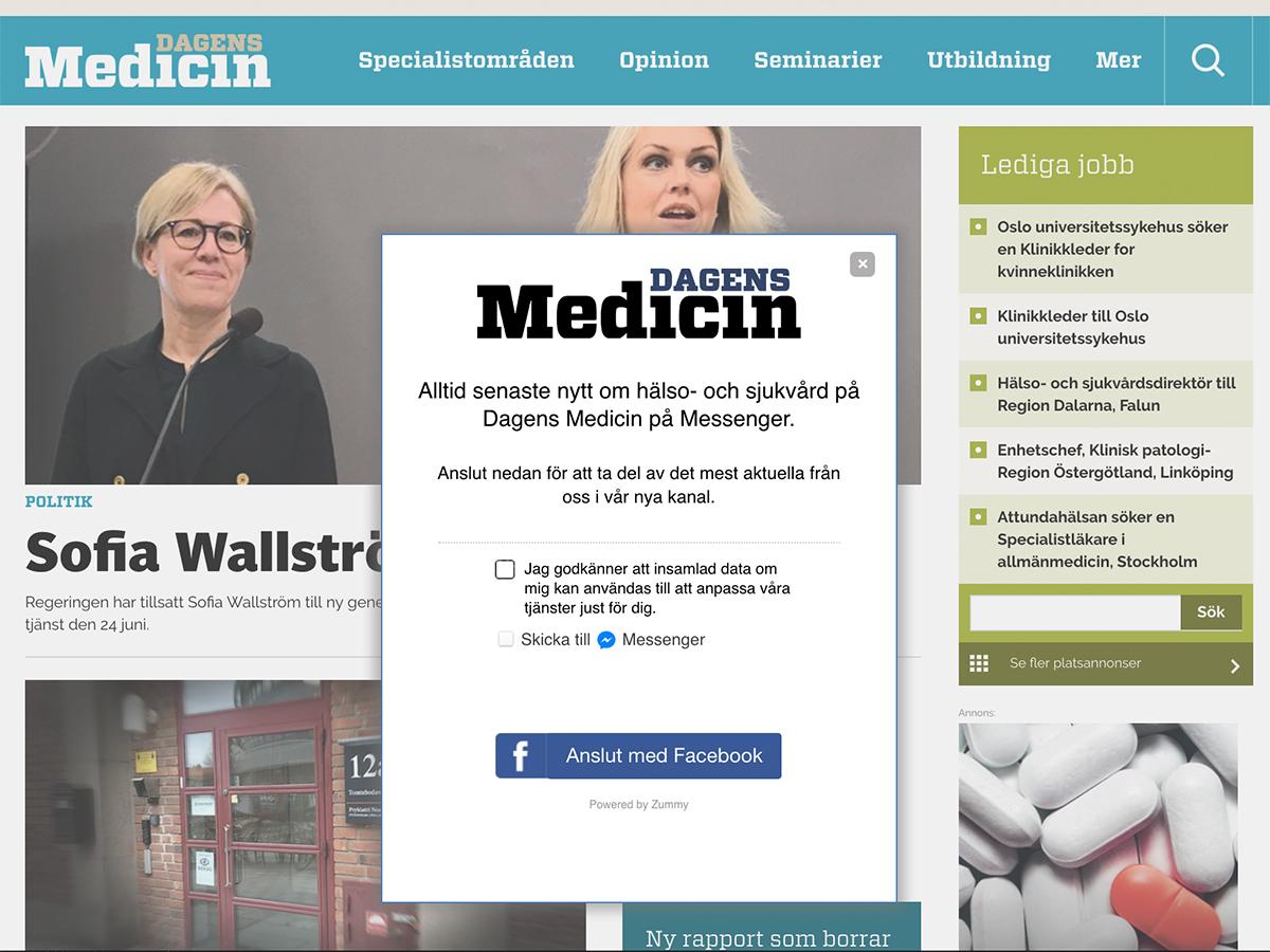 Dagens Medicin använder Zummys chatbot